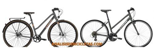 Trek tipos de bicicletas para mujer