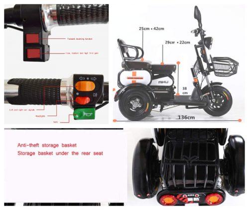Triciclo electrico adulto potente caro