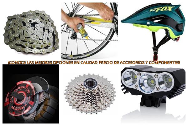 mejores accesorios y componentes bicicleta