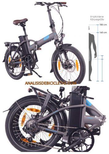 Bicicleta electrica plegable alta autonomía NCM