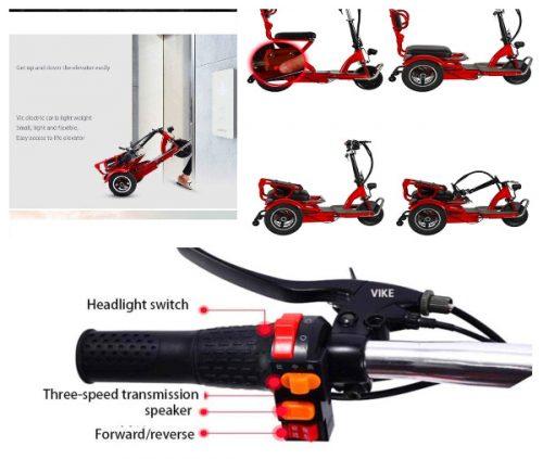 Triciclos eléctricos plegables para adulto automatico precio