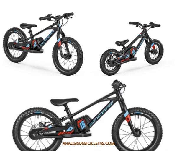 Mondraker GROMMY 12 y 16 bicicleta electrica niños