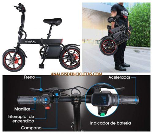 Windgoo bici plegable sostenible