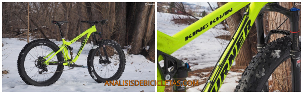King Khan bici rueda ancha alta gama