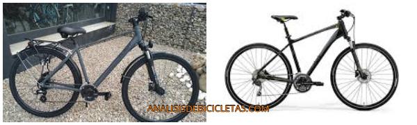 Bicicleta urbana hibrida.